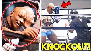 """*WOW* MIKE TYSON REACTS TO BRUTAL SPARRING in TRAINING CAMP """"I WILL KNOCK OUT ROY JONES IN ROUND 1"""""""