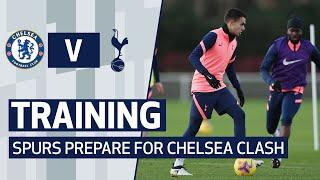 TRAINING   SHOOTING DRILLS AT HOTSPUR WAY AS SPURS PREPARE FOR CHELSEA