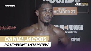 """""""I want all the champions at Super-Middleweight."""" Jacobs reacts to Rosado victory"""