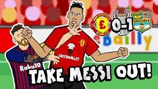 TAKE MESSI OUT By Chris Smalling (Man Utd vs Barcelona Champions League Parody Goal Highlights)