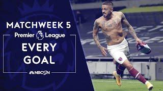 Every Premier League goal from 2020-21 Matchweek 5 | NBC Sports