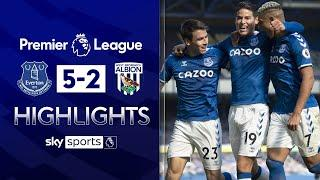 Calvert-Lewin hits hat-trick as Bilic and Gibbs see red | Everton 5-2 West Brom | EPL Highlights