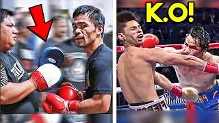 *LEAKED* MANNY PACQUIAO SECRET TRAINING CAMP TO KNOCKOUT RYAN GARCIA: SPARRRING, HEAVY BAG, STRENGTH