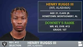 2020 NFL Draft: Las Vegas Raiders Select WR Henry Ruggs III From Alabama With Pick #12 In 1st Round