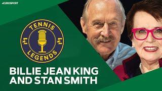 Billie Jean King,  Stan Smith and Mats Wilander | Tennis Legends Podcast | Eurosport