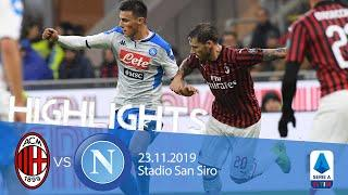 Highlights Serie A - Milan vs Napoli 1-1