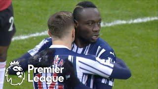 Mbaye Diagne heads West Brom in front of Manchester United | Premier League | NBC Sports