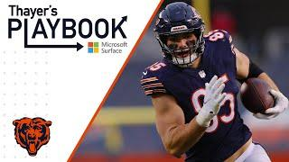 Cole Kmet shows receiving skills vs Lions   Thayer's Playbook   Chicago Bears
