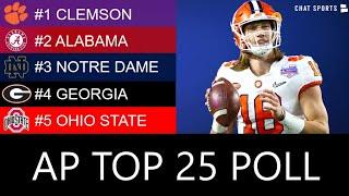 AP Poll: College Football Top 25 For Week 7 + 2020 Heisman Trophy Rankings
