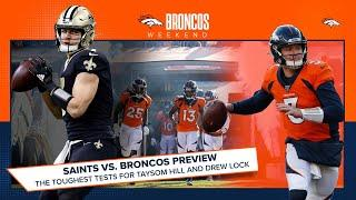 Saints vs. Broncos Preview: Biggest obstacles facing Taysom Hill and Drew Lock | Broncos Weekend