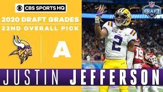 Vikings find a WR REPLACEMENT in Justin Jefferson and the 22nd pick   2020 NFL Draft   CBS Sports HQ