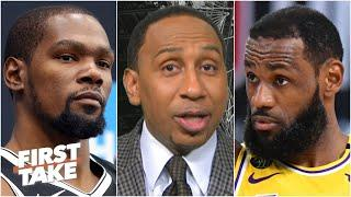 Stephen A.: 'There is no gap between LeBron James & Kevin Durant' | First Take