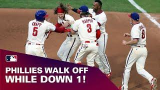 Phillies walk off on 2-run hit from Alec Bohm on exciting play at plate! | Full inning