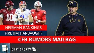 Jim Harbaugh Hot Seat? Heisman Trophy Rankings? Kyle Trask vs. Mac Jones? | College Football Mailbag