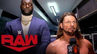 AJ Styles graciously offers to be Team Raw captain: WWE Network Exclusive, Oct. 26, 2020