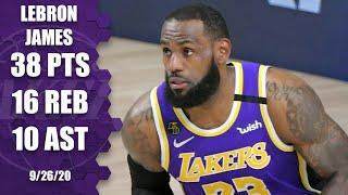 LeBron James leads Lakers with 38-point triple-double [GAME 5 HIGHLIGHTS] | 2020 NBA Playoffs