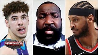 LaMelo Ball vs. Carmelo Anthony: Who is the REAL Melo? Kendrick Perkins has an answer   SportsNation