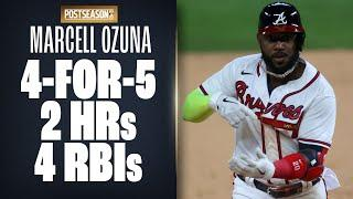 Braves' Marcell Ozuna GOES OFF with 2 homers + double vs. Dodgers in NLCS Game 4