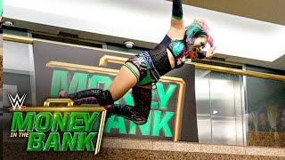 Asuka dives into the WWE Headquarters lobby: WWE Money in the Bank 2020 (WWE Network Exclusive)