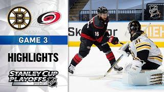NHL Highlights | First Round, Gm3: Bruins @ Hurricanes - Aug. 15, 2020