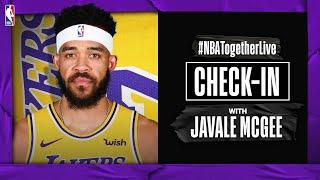 #NBATogetherLive Check-In With Javale McGee Host Of The Pierre Show