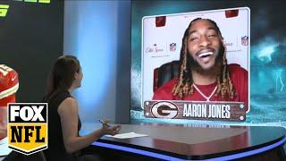 Packers Aaron Jones on playing with Aaron Rodgers this season | FOX NFL