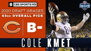 The Chicago Bears select a STRONG tight end in Cole Kmet with the 43rd overall pick   2020 NFL Draft
