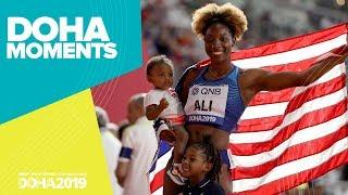 Nia Ali Takes 100m Hurdles Gold | World Athletics Championships 2019 | Doha Moments