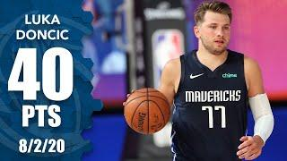 Luka Doncic highlights: 40 points, 11 assists, 8 rebounds vs. Mavericks | 2019-20 NBA Highlights