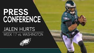 Jalen Hurts: Eagles Will Look to Learn From 2020 Season | Eagles Press Conference