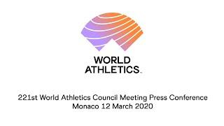221th World Athletics Council Meeting Press Conference