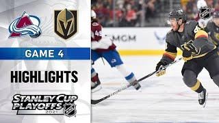 Second Round, Gm 4: Avalanche @ Golden Knights 6/6/21 | NHL Highlights