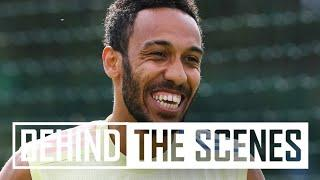 AUBAMEYANG WITH A WORLDIE!   Behind the scenes at Arsenal training centre