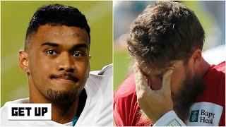 Reacting to Ryan Fitzpatrick's emotional response to being replaced by Tua Tagovailoa | Get Up