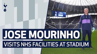 JOSE MOURINHO VISITS NHS FACILITIES AT TOTTENHAM HOTSPUR STADIUM