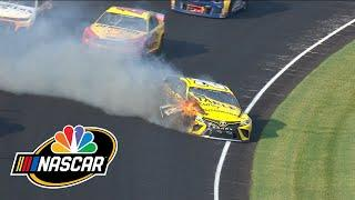 Brickyard 400: Erik Jones hits wall, crashes car at Indy | Motorsports on NBC