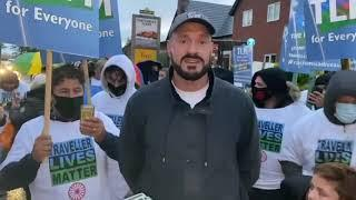 'I'LL GET A MILLION TRAVELLERS TO MARCH THROUGH LONDON' - TYSON FURY SAYS @ TLM PROTEST IN MORECAMBE