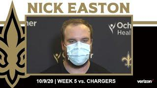 Nick Easton on the Chargers Defensive Front, Staying Prepared | Saints vs. Chargers Week 5 2020