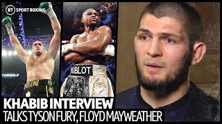 """""""He smeshed him!"""" Khabib hypes up Tyson Fury and reveals huge offer to fight Mayweather"""