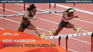 Keni Harrison storms to 12.48 over 100m hurdles   USATF Golden Games Continental Tour Gold