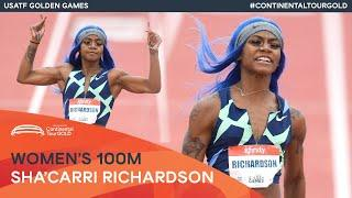 Sha'Carri Richardson powers to 10.77 in Mt SAC   USATF Golden Games Continental Tour Gold