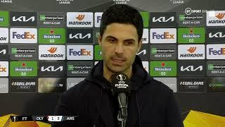 """""""It's about WHEN you play the ball."""" Mikel Arteta reacts to Olympiacos 1-3 Arsenal"""