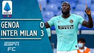 Genoa 0-3 Inter Milan: Lukaku and Sanchez lift Inter to second | Serie A Highlights