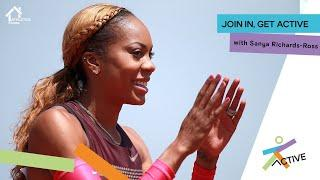 Home Fitness Class with Sanya Richards-Ross | Athletics@Home