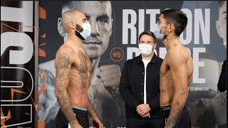 THE RIGHT TO FIGHT JOSH TAYLOR! - LEWIS RITSON v JEREMIAS PONCE - OFFICIAL WEIGH IN FROM NEWCASTLE