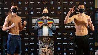 IRELAND VS. WALES FOR THE COMMONWEALTH TITLE! - SEAN McCOMB VS. GAVIN GWYNNE WEIGH IN & HEAD-TO-HEAD