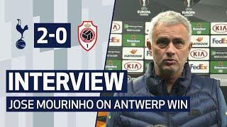 INTERVIEW | JOSE MOURINHO ON GROUP-TOPPING ANTWERP WIN | Spurs 2-0 Antwerp