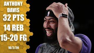 Anthony Davis puts up 32 and 14 for Lakers vs. Heat [GAME 2 HIGHLIGHTS] | 2020 NBA Finals
