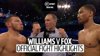 Liam Williams vs Alantez Fox fight highlights | WBO Middleweight eliminator