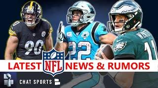 NFL News & Rumors On Christian McCaffrey, Zach Ertz, David Montgomery Injuries + Bench Carson Wentz?